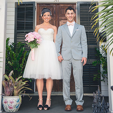 Key West Wedding - Bride and Groom