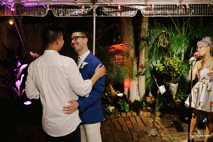 Destination Wedding in Key West Bride and Groom